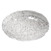 Service Ideas Small Clear Metropolis Round Plate - Dinner Plates
