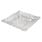 Service Ideas Clear Metropolis Square Plate - Dinner Plates
