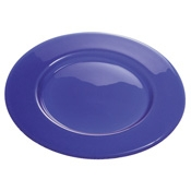"Service Ideas 12.5"" Diamond Cut Nuage Tuscany Glass Plate - Dinner Plates"