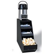 Service Ideas Airpot and Condiment 1-Compartment Stand - Condiment Servers