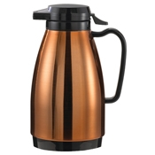Service Ideas 0.6L Push Button Copper and Black Carafe - Coffee Carafes and Servers