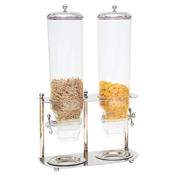 Service Ideas Zepe Cereal Double Stainless Steel Dispenser - Cereal Dispensers
