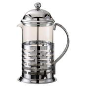 Service Ideas Medium Chrome Coffee Press - Coffee Carafes and Servers
