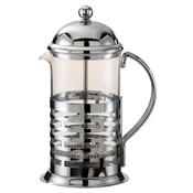 Service Ideas Large Chrome Coffee Press - Coffee Carafes and Servers
