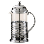 Service Ideas Extra Large Chrome Coffee Press - Coffee Carafes and Servers