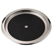 Service Ideas Stainless Steel Tray with Solid Rubber Surface - Serving Trays