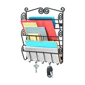 Spectrum 43310CAT Scroll 3-Tier Wall Mount Letter Holder - Literature Displays