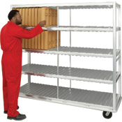 New Age Industrial Extra Heavy Duty 336 Cafeteria Tray Drying Rack