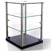 Equipex TP353 2 Glass Shelves And Top Plus MDF Base Ambient Display - Equipex