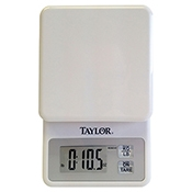 Taylor 3817 11 lb White Compact Digital Scale