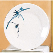 "Thunder Group 1008Bb 7-7/8"" Blue Bamboo Round Plate - Dinner Plates"