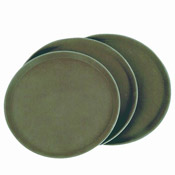 "Thunder Group Plst1100Br 11"" Round Service Trays - Serving Trays"