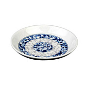 "Thunder Group 1004Dl Blue Dragon Melamine 4-1/2"" Round Plates 4Oz. - Dinner Plates"