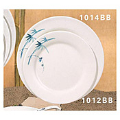 "Thunder Group 1012Bb Blue Bamboo Melamine 11-3/4"" Round Plates - Dinner Plates"