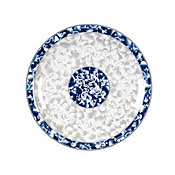 "Thunder Group 1013Dl Blue Bamboo Melamine 12-5/8"" Round Plates - Dinner Plates"