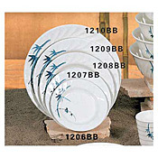 "Thunder Group 1206Bb Blue Bamboo Melamine 6"" Curved Rim Round Plates - Dinner Plates"