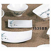 "Thunder Group 1535Bb Blue Bamboo Melamine 5-1/4"" X 3-1/4"" Square Plates - Dinner Plates"