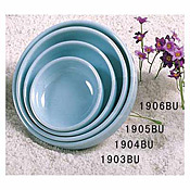 "Thunder Group 1906 Blue Jade Melamine 6"" Round Plates 14 Oz. - Dinner Plates"