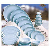 "Thunder Group 1909 Blue Jade Melamine 9-1/4"" Round Plates - Dinner Plates"