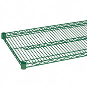 "Economy 24"" x 42"" Green Wire Shelf"