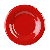 "Thunder Group Cr005Pr Pure Red Melamine 5-1/2"" Wide Rim Plates - Dinner Plates"