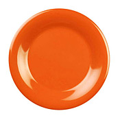"Thunder Group Cr005Rd Red Melamine 5-1/2"" Wide Rim Plates - Dinner Plates"