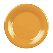 "Thunder Group Cr006Yw Yellow Melamine Yellow 6-1/2"" Wide Rim Plates - Dinner Plates"