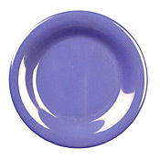 "Thunder Group Cr009Bu Blue Melamine 9"" Wide Rim Plates - Dinner Plates"