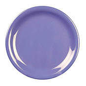 "Thunder Group Cr106Bu Blue Melamine 6-1/2"" Narrow Rim Plates - Dinner Plates"