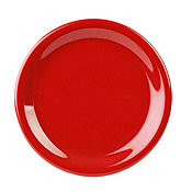 "Thunder Group Cr106Pr Pure Red Melamine 6-1/2"" Narrow Rim Plates - Dinner Plates"