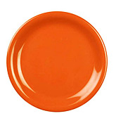 "Thunder Group Cr106Rd Red Melamine 6-1/2"" Narrow Rim Plates - Dinner Plates"