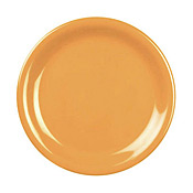 "Thunder Group Cr110Yw Yellow Melamine Yellow 10-1/2"" Narrow Rim Plates - Dinner Plates"