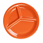 "Thunder Group Cr710Rd Red Melamine 10-1/4"" 3-Compartment Plates - Dinner Plates"