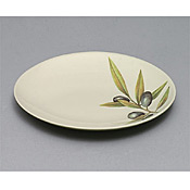 "Thunder Group LC010GR Laurel Melamine 10-1/4"" Plate - Servingware"