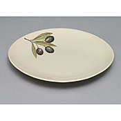 "Thunder Group LC012GR Laurel Melamine 12"" Plate - Servingware"