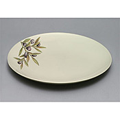 "Thunder Group LC016GR Laurel Melamine 16"" Large Plate - Servingware"