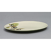 "Thunder Group LC210GR Laurel Melamine 10-1/8"" x 6-1/2"" Oval Platter - Servingware"