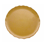 "Thunder Group Gold Pearl Melamine 10-1/2"" Round Dinner Plate - Servingware"