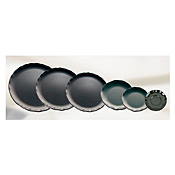 "Thunder Group Rf1018B Black Pearl Melamine 18"" Round Plate - Catering Supplies"