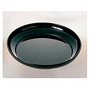 "Thunder Group Rf1112B Black Pearl Melamine 12"", Salad Platter - Catering Supplies"