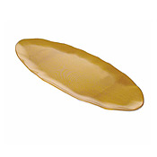 "Thunder Group Gold Pearl Melamine 24"" Oval Platter - Servingware"