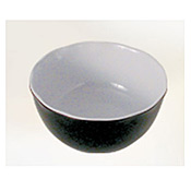"Thunder Group Rf5065Bw Black Pearl Melamine 6-1/2"" X 3"" All Purpose Bowl 36 Oz. - Servingware"
