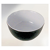 "Thunder Group Rf5112Bw Black Pearl Melamine 11-1/4"" X 4-1/4"" Large Serving Bowl 176 Oz. - Servingware"