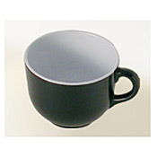 "Thunder Group Rf9475Bw Black Pearl Melamine 4-3/4"" X 3-5/8"" Soup Mug 23 Oz. - Servingware"