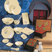 "G.E.T. Tokyo Dinnerware 8"" Scallop-Shaped Plate - Dinner Plates"