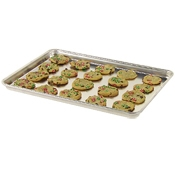 Vollrath Wear-Ever 5314 Heavy Duty Half Size 13 Gauge Aluminum Bun/Sheet Pan - 17-3/4