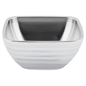 Vollrath 4763450 Double Wall Square Beehive 3.2 Qt. Serving Bowl - Pearl White - Vollrath