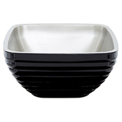 Vollrath 4763560 Double Wall Square Beehive 5.2 Qt. Serving Bowl - Black Black - Vollrath