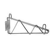 "Economy Wire Shelving Green Epoxy 21"" Wall Bracket"