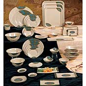 "Thunder Group 1360J Wei Japanese W1S 5-7/8"" Dia. - Dinner Plates"